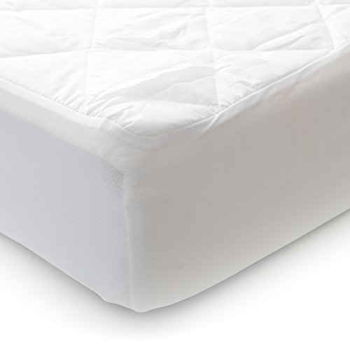 UPC 840985109059, MILLIARD Quilted Padded Bassinet Mattress Cover, Hypoallergenic & Waterproof, Premium Cotton Blend - 15x33x6
