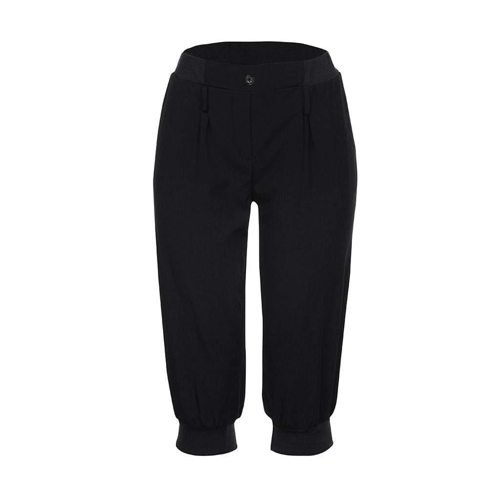 VRTUR Damen Plus Size Capris Hose Bermuda Dicke Naht Damenjeans 3//4 Trainingshose Sporthose Kurze Hose Sommerhosen