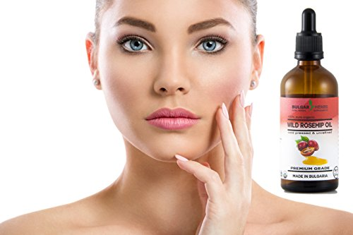 Pure Bulgarian Rosehip Oil - Organic and Raw For Anti Aging, Anti Wrinkles, Anti Acne and many more - 100 ml, 3.4 Fl.Oz