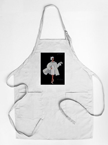 France National Costume Men (Josephine Baker costume design Vintage Poster (artist: Bertaux) France (Cotton/Polyester Chef's Apron))