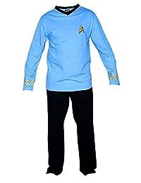 Star Trek Adult Spock Officer Uniform Blue Pajama Set