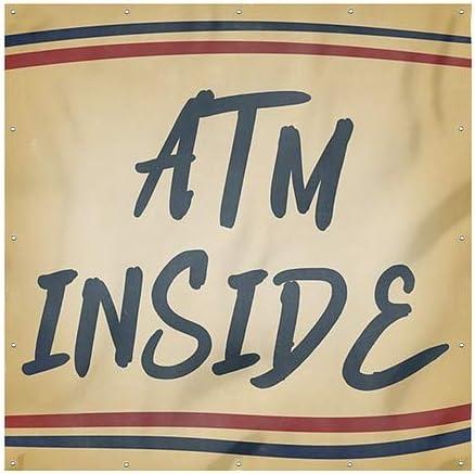 6x6 ATM Inside Nostalgia Stripes Heavy-Duty Outdoor Vinyl Banner CGSignLab