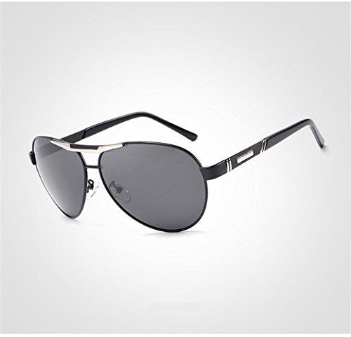 para de personalidad Gafas anti clásicas sol RFVBNM de sol la marco polarizadas del Gafas pesca para de sol de UV Gafas libre de negro al hombre gris sol marco Lente aire gris polarizadas de marco gafas hombre Lente gris dHfwwWqxIn
