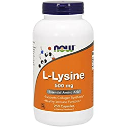 NOW L-lysine 500 mg, 250 Capsules