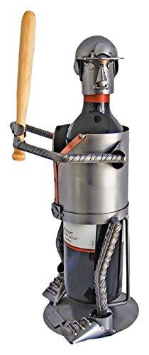 H & K Sculptures Baseball Water Bottle Holder/Wine Caddy, , null
