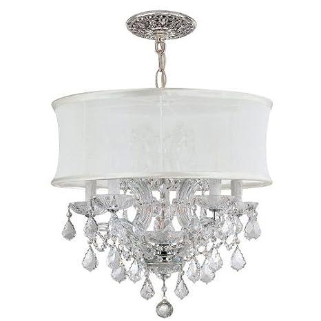 Amazon.com: Brentwood 6 araña de luz: Cromo pulido, vidrio ...