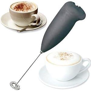 Bhavyata Milk Frother Electric Foam Maker Classic Sleek Design Hand Blender Mixer Froth Whisker Latte Maker for Milk…