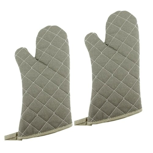 New Star 32024 Oven Flame Retardant Mitts/Gloves, 15-Inch, Set of 2