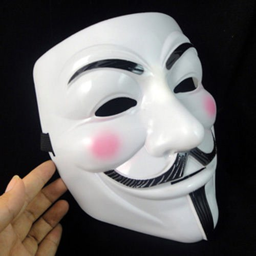 JetkyShop Details About New V for Vendetta Anonymous Film Guy Fawkes Face Mask Halloween Fancy Cosplay