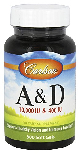 Carlson Labs Vitamin A and D, 10000/400 IU