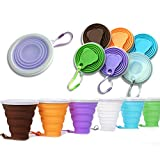 Best Collapsible Cups - DARUNAXY Silicone Collapsible Travel Cup - 6 Pack Review