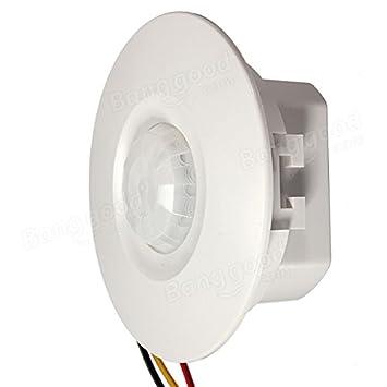 Calli 360 grados de mini interruptor de techo empotrado detector pir sensor de movimiento: Amazon.es: Electrónica