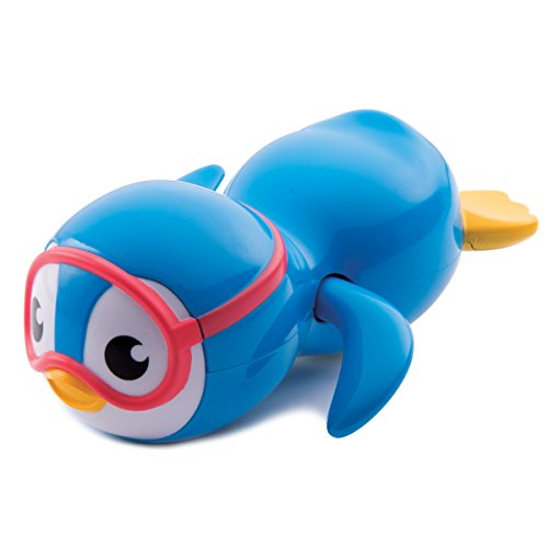 Munchkin Wind Up Swimming Penguin Bath Toy, Blue