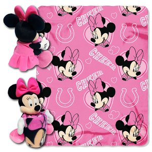 - The Northwest Company Officially Licensed NFL Indianapolis Colts Co Disney's Minnie Hugger and Fleece Throw Blanket Set