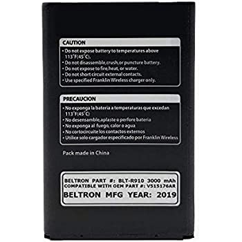 New BELTRON 3000 mAh Replacement Battery for Sprint R910 4G LTE Mobile  Hotspot (V515176AR)