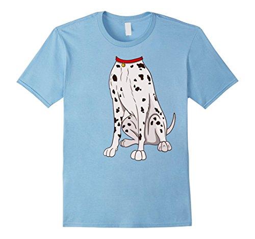 Mens Dalmatian Costume T-Shirt for Halloween Dog Animal Cosplay Medium Baby Blue (Baby And Dog Halloween Costume Ideas)