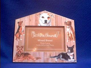Mixed Breed Dog House Frame 4x6 or 3x5 Pictures ()