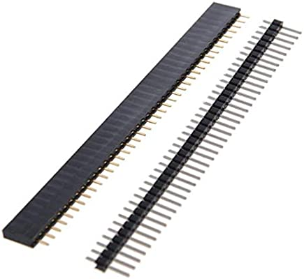24Pcs 40 Pin 2.54Mm Header Strips Male /& Female Single Row Square Type Breakaway