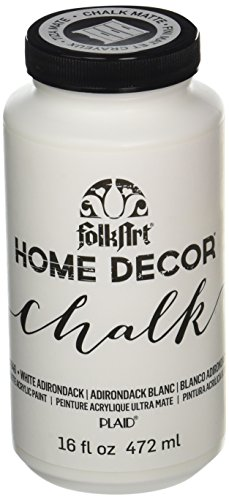 Wall Paint Colour (FolkArt Home Decor Chalk Furniture & Craft Paint in Assorted Colors (16 Ounce), 34846 White Adirondack)