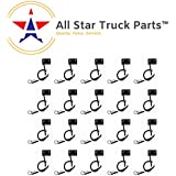 [ALL STAR TRUCK PARTS] 2 Prong Pigtail Wire Plug for Truck Trailer Side Marker Clearance Lights -Qty 20
