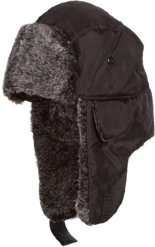 Sakkas 12TrooperSY Charlie Unisex Faux Fur Nylon Trooper Hat - Black]()