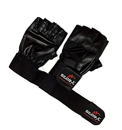 StarX Beginner Foam Gym Gloves, Adult (Black)