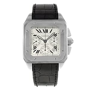 Cartier Santos 100 automatic-self-wind mens Watch W20090X8 (Certified Pre-owned)