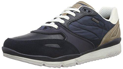 Geox Mens U Sandro B ABX Fashion Sneaker Navy Suede/ Nylon 9a1gaf1