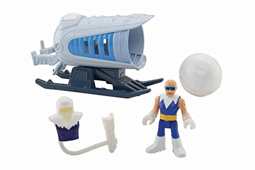 Fisher-Price Imaginext DC Super Friends Captain Cold and Ice Cannon Action Figure (Atomic Cannon)