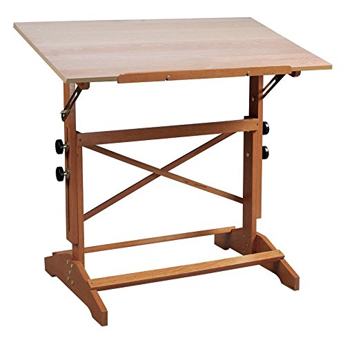 Alvin AP436 Pavillon Art and Drawing Table Unfinished Wood Top 24 inches x 36 inches by Alvin