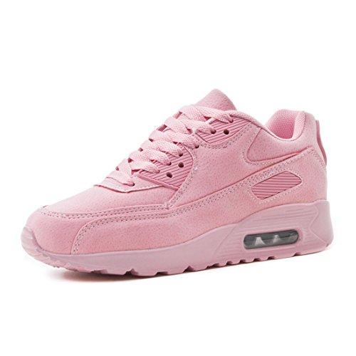 Marimo Laufschuhe Kinder Turnschuhe Trendige Damen Herren Velouroptik Pink Sport Sneaker Schnür Unisex Fitness rxqtrwAX