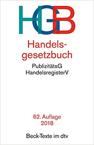 Cover des Buchs: Handelsgesetzbuch HGB: mit Seehandelsrecht, mit Wechselgesetz und Scheckgesetz und Publizitätsgesetz