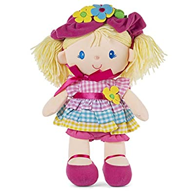 GUND April Springtime Dolly 13 Inch Plush Doll with Removable Bonnet and Dress: Toys & Games