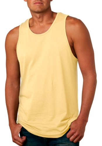 Next Level Apparel mens Next Level Premium Jersey Tank(3633)-BANANA CREAM-XL by Next Level Apparel