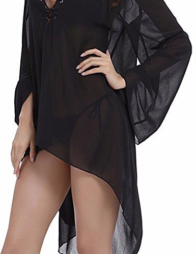 Looseplus - Camisas - para mujer negro