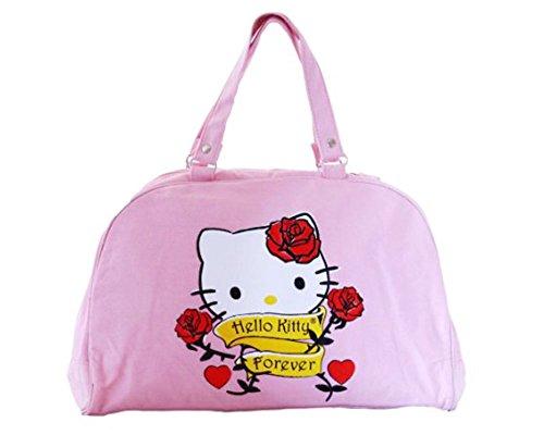 Borsa a mano hello kitty per donna–Borsa bowling modalità Original Rosa Sanrio–40x 26x 12cm