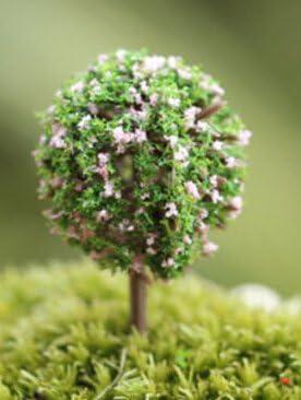 Mini árboles de cerezo artificiales para jardín de hadas, árboles de cerezo, miniaturas, jardín, patio, maceta de césped, materiales sintéticos, Style 3, 5~7cm: Amazon.es: Hogar