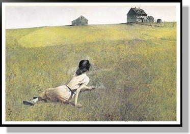 アンドリューワイエス *クリスティーナの世界 【ポスター+フレーム】91 x 61 cm ブラック B00P5VESNY