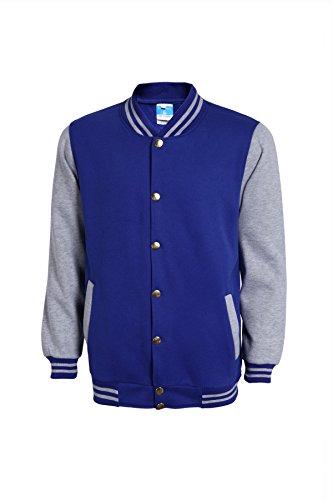 - Mojessy Women's Varsity Bomber Jacket Fall Biker Baseball Jacket Short Coat Large Blue&Grey
