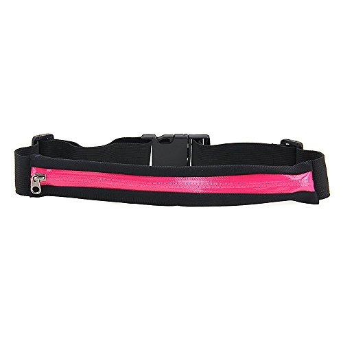 Foxpic Sport Tasche Hüfttasche Gürteltasche Bauchtasche mit Reißverschluss Multifunktion für Handy Pink