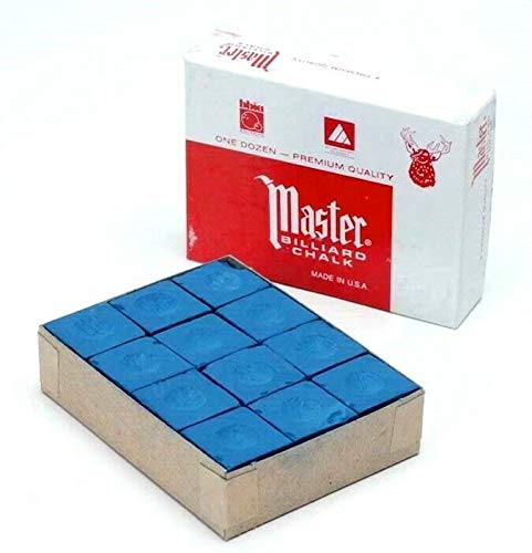 12 blocks pcs of genuine blue triangle snooker or pool tip chalk by tweetens usa