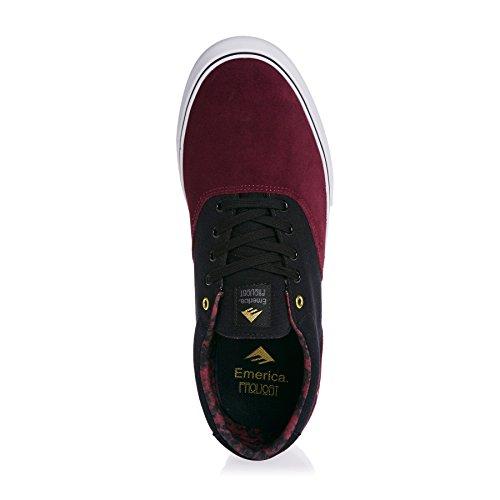 Emerica Provoost Slanke Vulc Skate Schoen Bordeaux / Goud