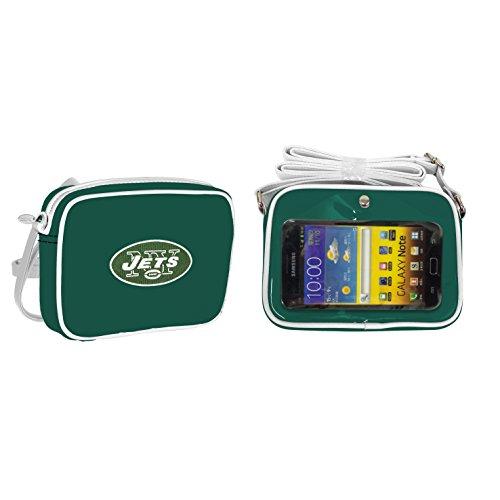 Jets Football Charm - NFL New York Jets Fashion Style Crossbody Purse- Embroidered Logo