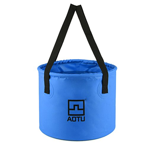 OLSUS High Strength Good Elasticity Non-toxic Multifunctional Folding Bucket/Basin/Gadgets Holder/Fishing Barrel by OLSUS