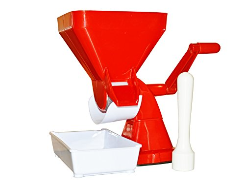 Natural Classico NC-120TM Manual Tomato Milling Machine, Red