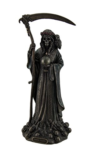 Santa Muerte Antique Bronze Finish Grim Reaper Statue