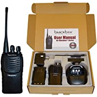 Klein Electronics BLACKBOX+-V Blackbox+ VHF 2-Way Radio, IP54 Water Resistant, 5 Watt power, 16 Channel with Scan, 2-Tone Encode/Decode, VOX Voice activated, Voice Enunciation for each channel