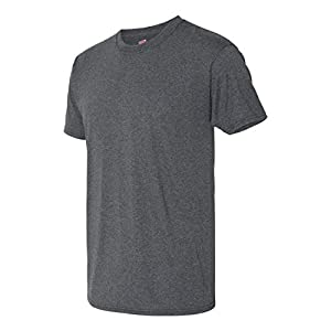 Hanes Men`s X-Temp Fresh IQ Tri-Blend Performance Tee, 42TB, L, Slate Heather