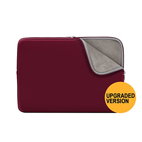 RAINYEAR 11 Inch Laptop Sleeve Protective Case Soft Fluffy Lining Carrying Bag Cover for 11.6 MacBook Air/Notebook/Ultrabook/Tablet/Chromebook Dell HP ThinkPad Lenovo Asus Acer(Red,Upgraded (Hewlett Packard Switch Cover)