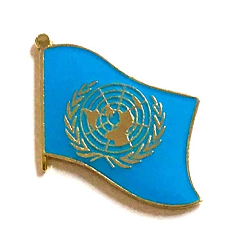 Free Ship Pin Brooch (World Flags Direct Pack of 3 United Nations Single Flag Lapel Pins, UN Pin Badge)